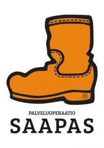 Palveluoperaation Saappaan logo.