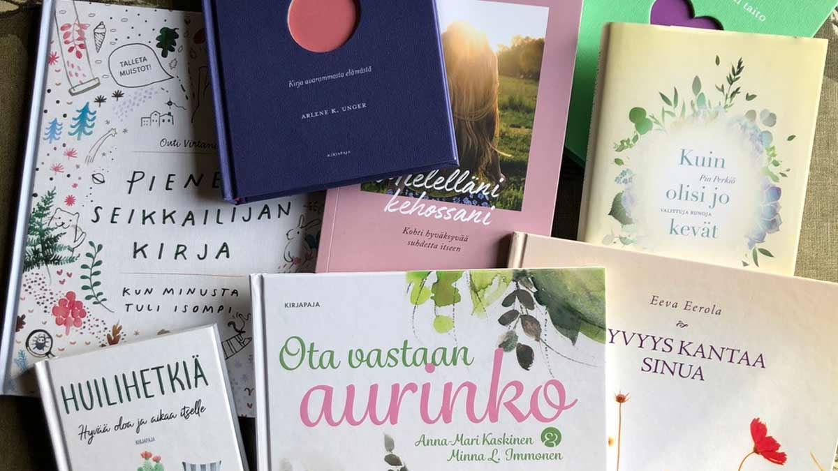 Kasa Publiva Oy:n julkaisemia kirjoja.