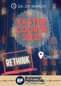 European Fellowship Easter Course mainosjuliste